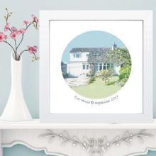 House Portrait in Box Frame - Ideal keepsake for Housewarming Gift
